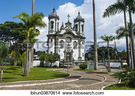 """Stock Photo of """"Church Sao Francisco de Assis, Sao Joao del Rei."""