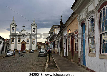 Pictures of View of a church in Sao Joao del Rei, Minas Gerais.