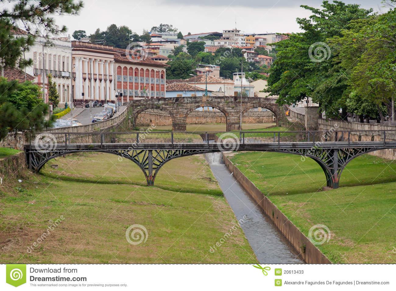 Bridges In Sao Joao Del Rei Minas Gerais Brazil Stock Photos.