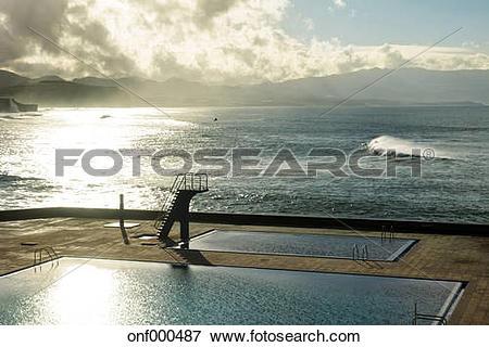 Picture of Portugal, Azores, Sao Miguel, Piscinas da Ribeira.