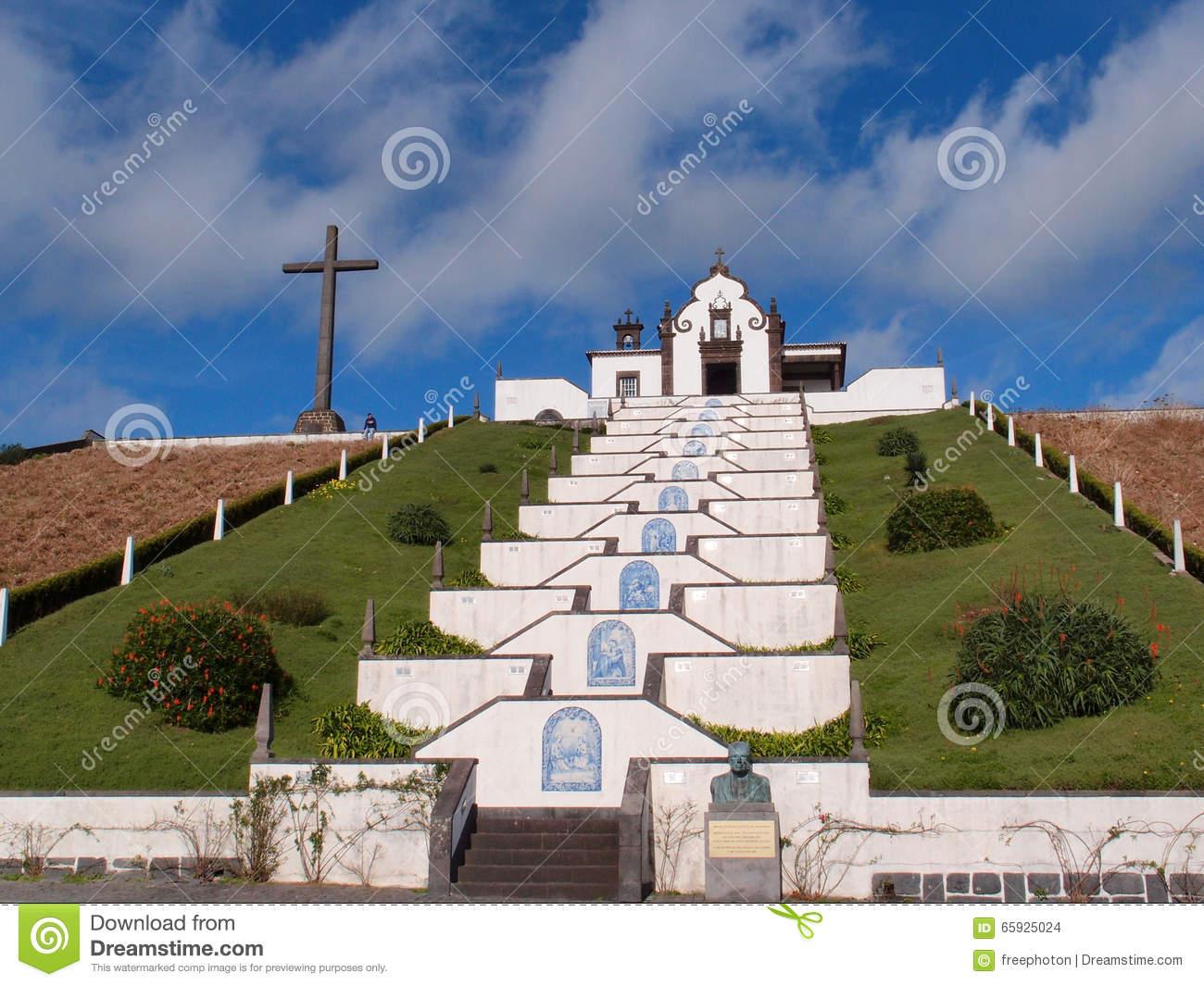 Ermida De Nossa Senhora Da Paz, Sao Miguel, Azores Royalty Free.