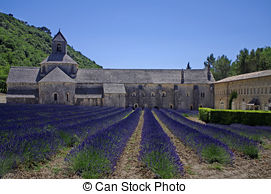 Pictures of abbey of Senanque,Provence,France.