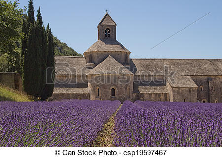Stock Image of Abbey Senanque (Provence, France).