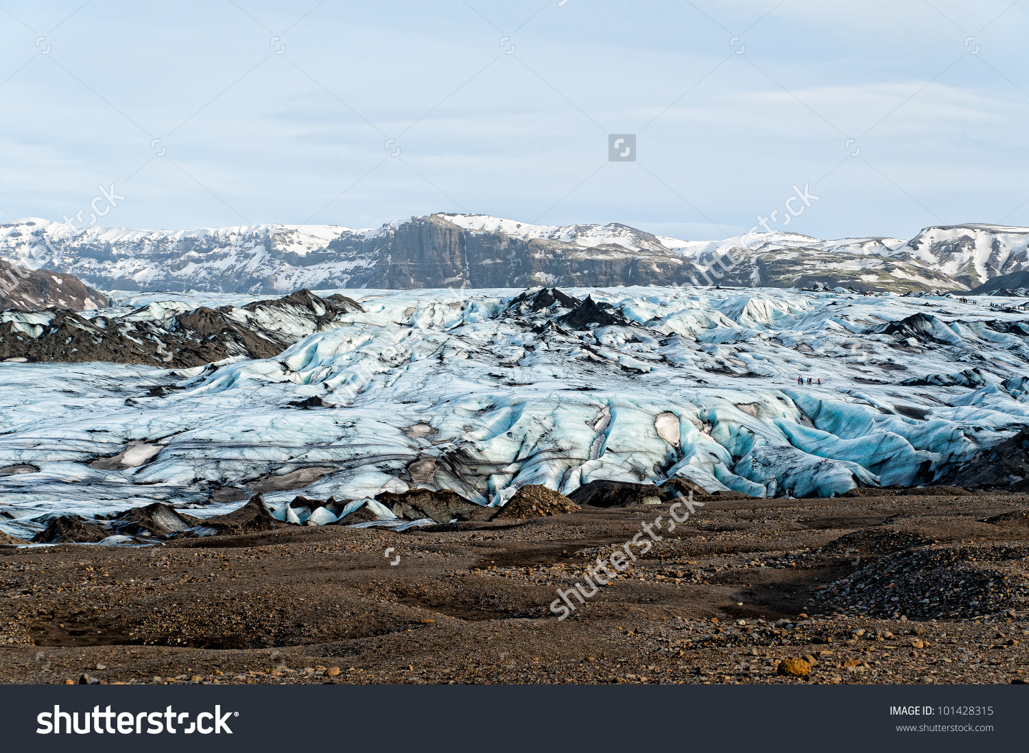 Solheimajokull Glacier In Iceland Stock Photo 101428315 : Shutterstock.