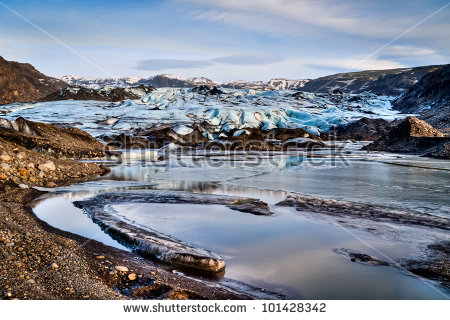 Solheimajokull Glacier In Iceland Stock Photo 101428342 : Shutterstock.