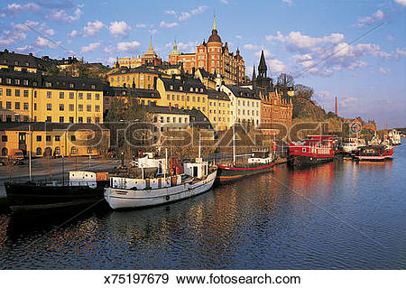 Stock Photograph of Sodermalm, Stockholm, Sweden x75197679.