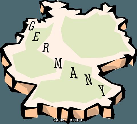 Deutschland Karte Vektor Clipart Bild.