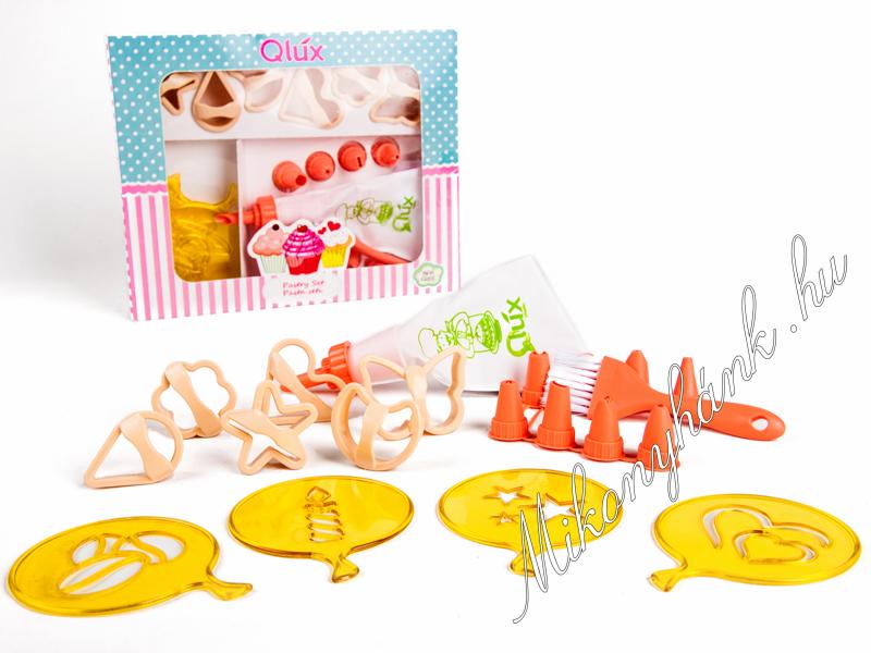 Sütemény kiszúrók : Sütemény dekoráló készlet 21részes.