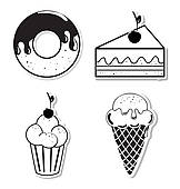 Clipart of cup cake k13510245.
