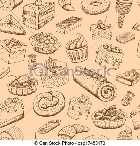 A kellemes, seamless, Sütemény.