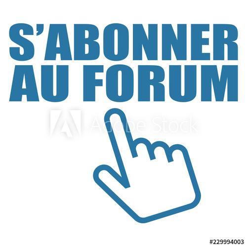 Logo s\'abonner au forum..