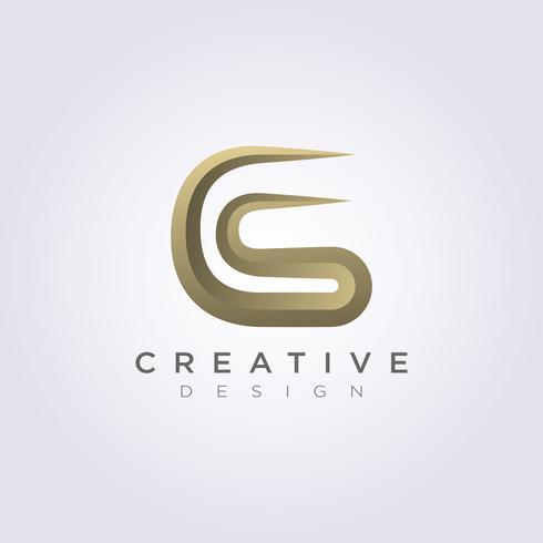 Letter C S Luxury Vector Illustration Design Clipart Symbol.