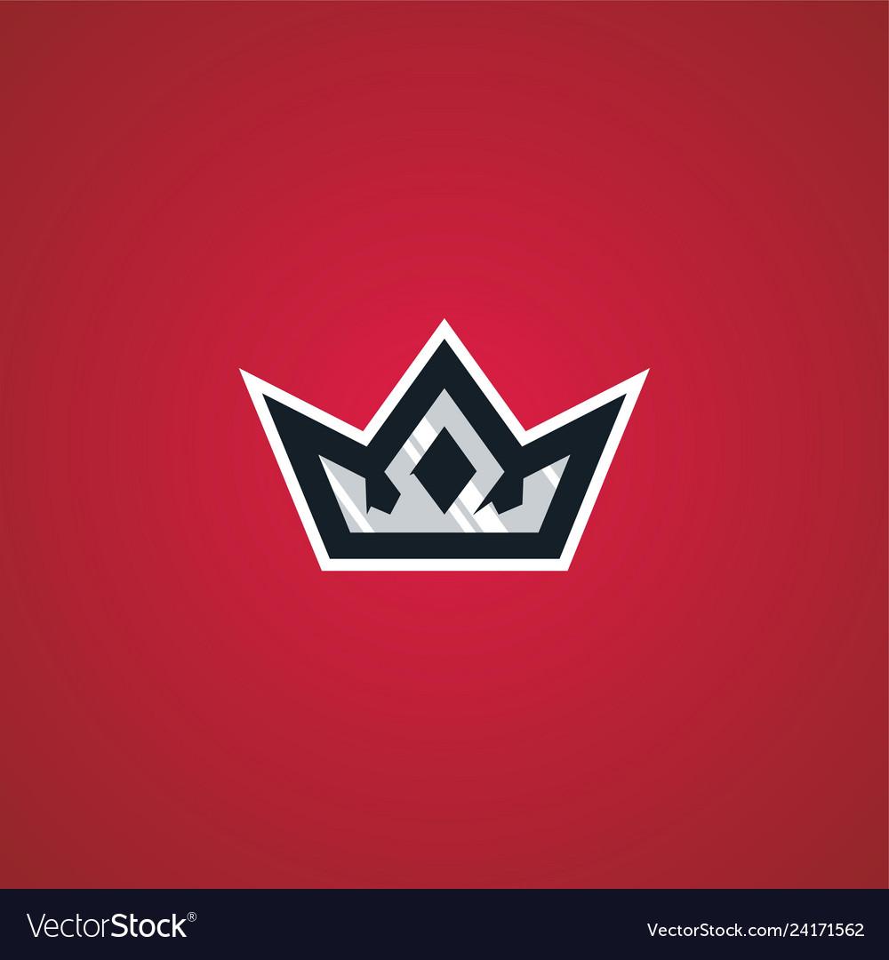 Crown king sport esport gaming logo download.