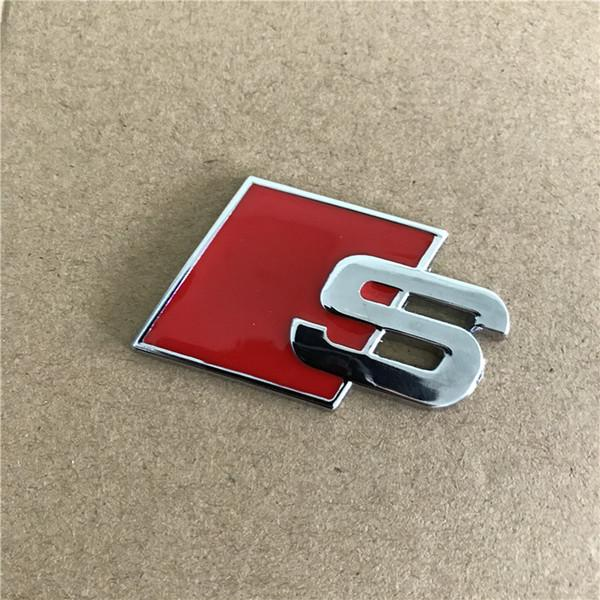 2019 NEW Metal S Logo Sline Emblem Badge Car Sticker Red Black Front Rear  Boot Door Side Fit For Audi Quattro VW TT SQ5 S6 S7 A4 Accessorie From.