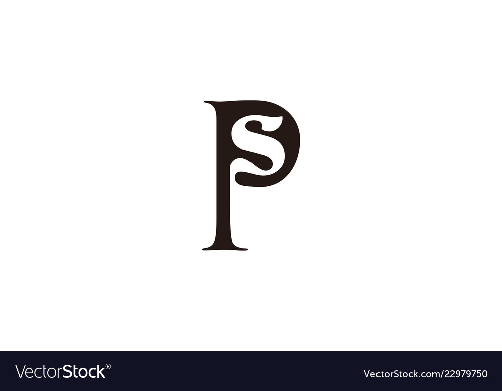 Letter p s logo designs inspiration isolated on.