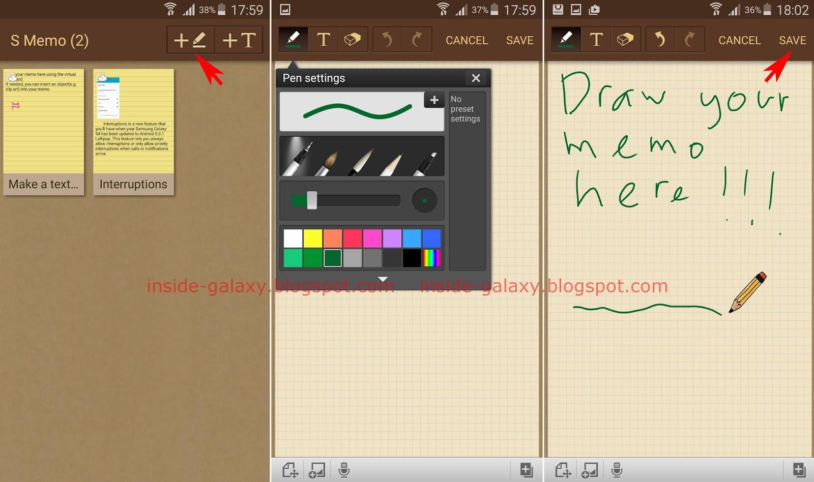 Samsung Galaxy S4: How to Create a Handwritten Memo Using S Memo.