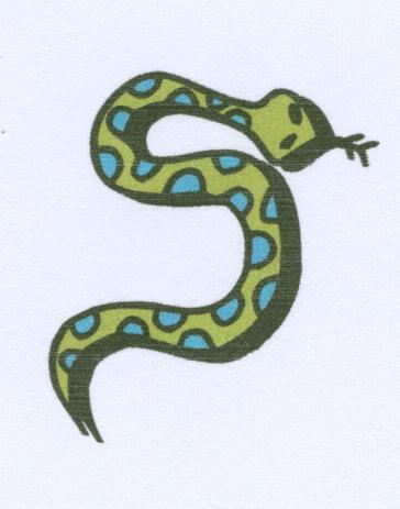 Snake clipart s shape.