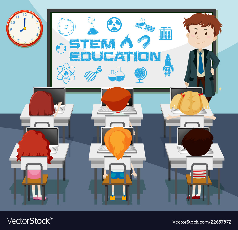 S t e m classroom projects clipart black and white clipart.