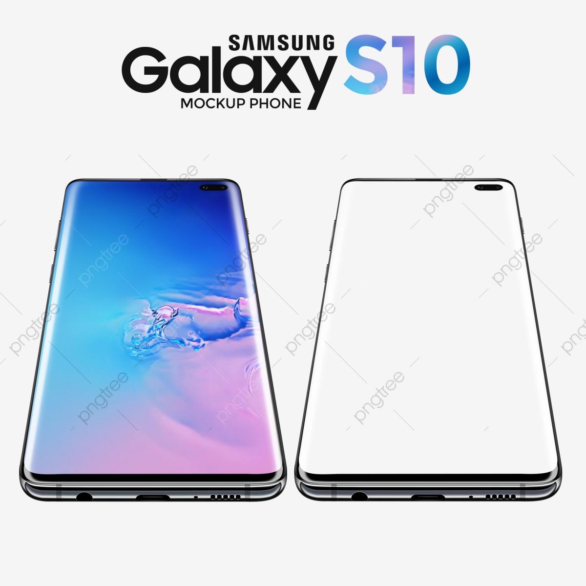 Mockup Samsung Galaxy S10 Perspective Version, Phone.