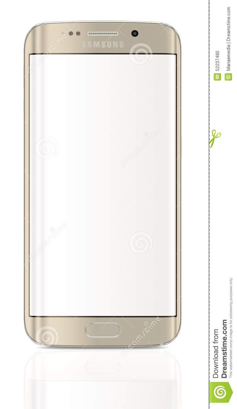 Galaxy S6 Edge Clipart.