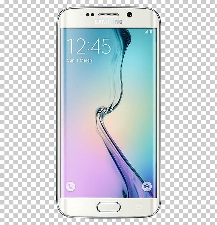 Samsung Galaxy S6 Edge Smartphone Android Telephone PNG.