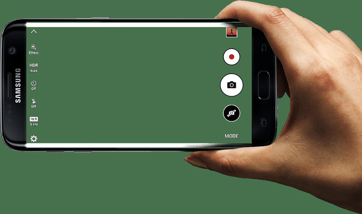 Galaxy S7 Edge Mockup transparent PNG.