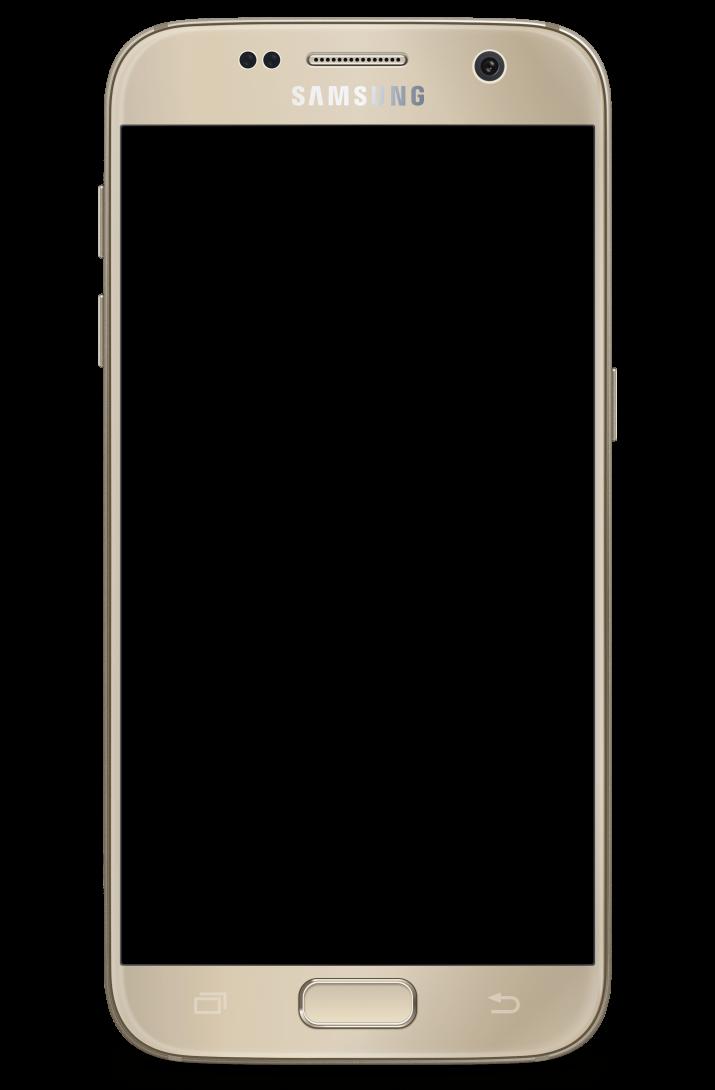 Transparent Samsung Galaxy S7 Gold.