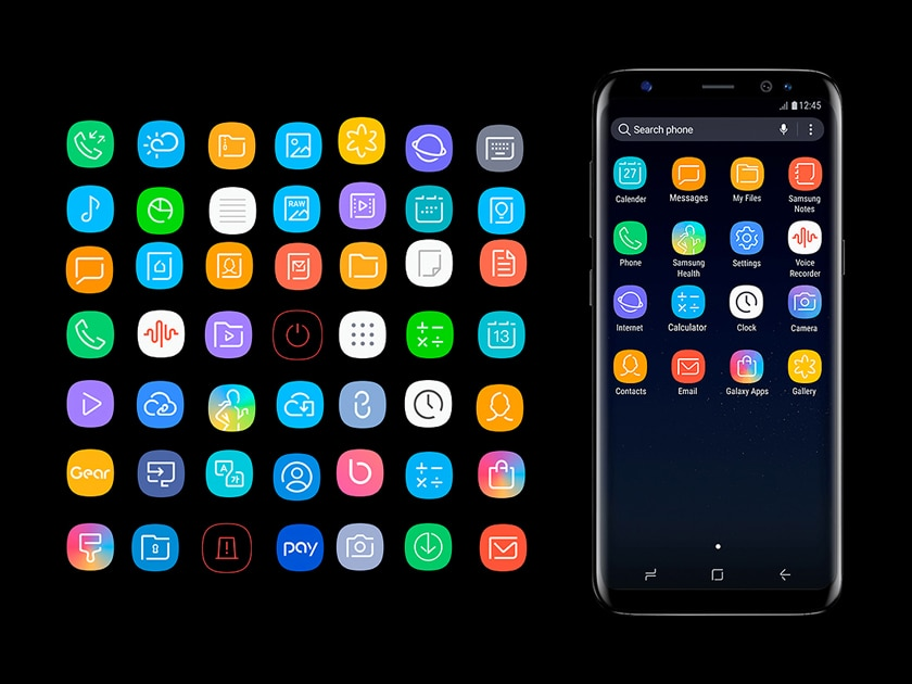 Samsung S8 Icon Pack.