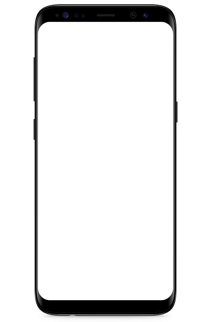Samsung Galaxy S8 Black transparent background.
