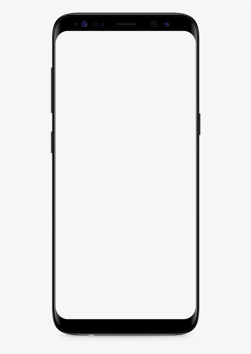 Samsung Galaxy S8 Black Transparent Background.