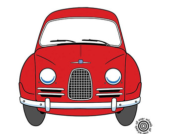 75+ Saab Automobile Clipart.