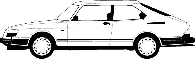 Saab 900 Cliparts.