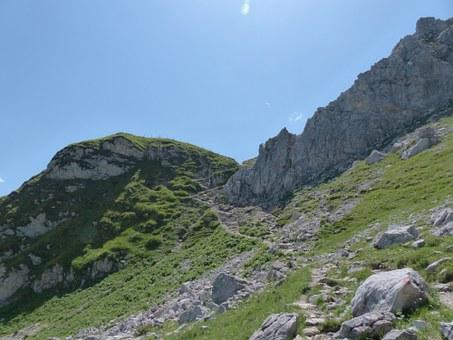 Free photo Hiking Area Aggenstein View Schochen Top Sulz Tip.