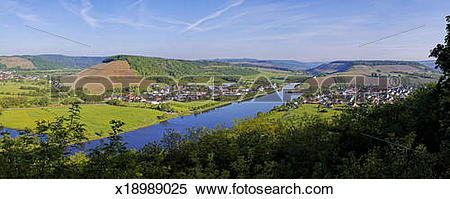 Stock Image of Saar Valley near Ayl.