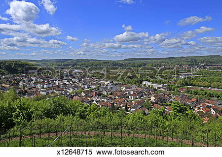 Stock Image of Merzig, Saar Valley, view from Kreuzberg x12648715.