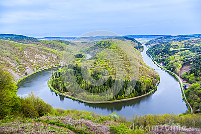 Saar Loop Cloef Famous View Stock Photos, Images, & Pictures.