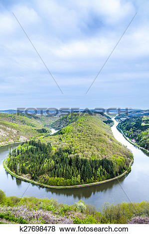 Pictures of Saar loop at Mettlach. A famous view point. k27698478.