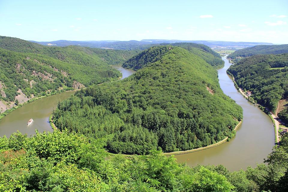 Free photo Saarland Forest Trees River Saar Loop Nature.