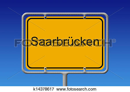 Stock Illustration of City Sign Saarbrucken k14378617.