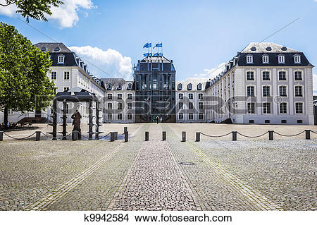 Stock Photo of castle Saarbruecken k9942584.