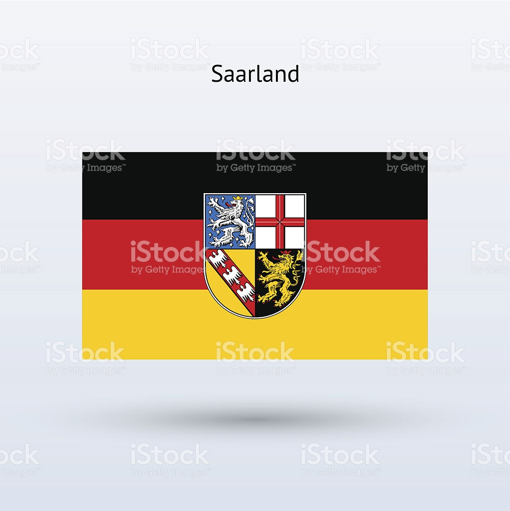 State Of Saarland Flag stock vector art 451028387.