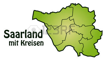 Saarland Boundary Stock Vector Illustration And Royalty Free.