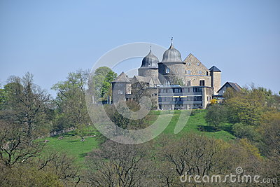 Sababurg Castle In Hesse Stock Photo.
