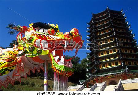 Pictures of Malaysia, Borneo, Sabah, Kota Kinabalu, Dragon Dance.