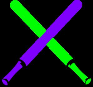 Green And Purple Light Saber Clip Art at Clker.com.