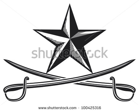 Cross Sabers Clipart.