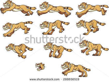 Saber Tooth Tiger Stock Images, Royalty.