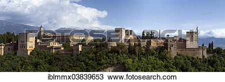 "Stock Photo of ""The Alhambra on Sabikah Hill, UNESCO World."