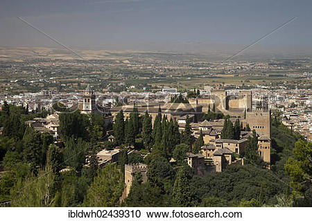 "Stock Photography of ""View of the Alhambra as seen from the."
