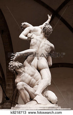 Stock Photo of The rape of the sabine women k8218713.